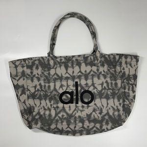 NEW Alo Yoga Gray Tie Dye Large Tote Bag